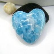 Ларимар сердце кабошон HZ12 11007 Larimar-Stone