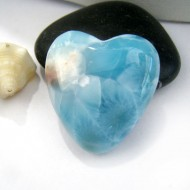 Ларимар сердце кабошон HZ14 11009 Larimar-Stone