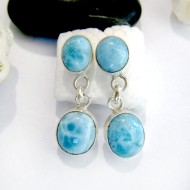 Larimar-Stone Larimar Earrings 2x Oval YO22 11027 49,00 €