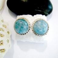 Larimar-Stone Larimar Earrings Round OR24 11031 34,90 €