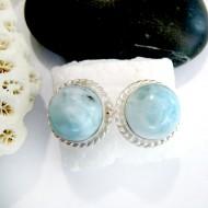 Larimar Aretes Redondo OR25 11032 Larimar-Stone 34,90 €