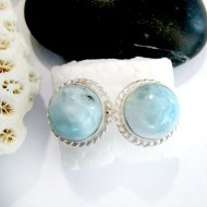 Larimar-Stone Larimar Earrings Round OR25 11032 34,90 €
