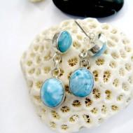 Larimar-Stone Larimar Earrings 2x Oval YO25 11033 59,00 €
