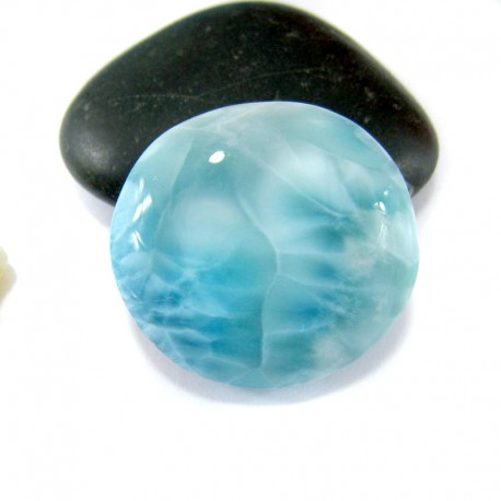 Ларимар без формы кабошон FC188 11041 Larimar-Stone