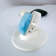 Ларимар Ювелирное кольцо четырехугольник