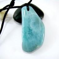 XL Ларимар камень пробурена с лентой SB156 11113 Larimar-Stone