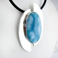 XL Yamir Luxury Golgante Oval YO10 11168 Larimar-Stone 289,00 €