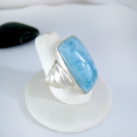 Larimar-Stone Yamir Luxury Ring Square 9117 89,00 €