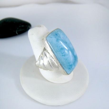 Larimar-Stone Yamir Larimar Luxury Ring Viereck 9117 89,00 €