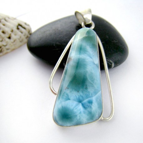 Ларимар ювелирные изделия кулон FR81 11184 Larimar-Stone
