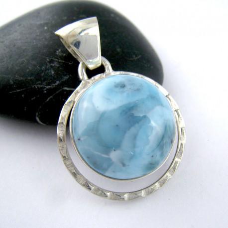 Ларимар ювелирные круглый кабошон UK8 11187 Larimar-Stone