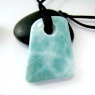 Ларимар камень пробурена с лентой SB157a 11114 Larimar-Stone