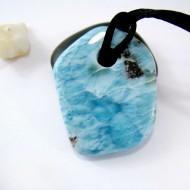 Larimar-Stone XL Larimar Stone Polished with drilled hole SB160 11117 109,90 €