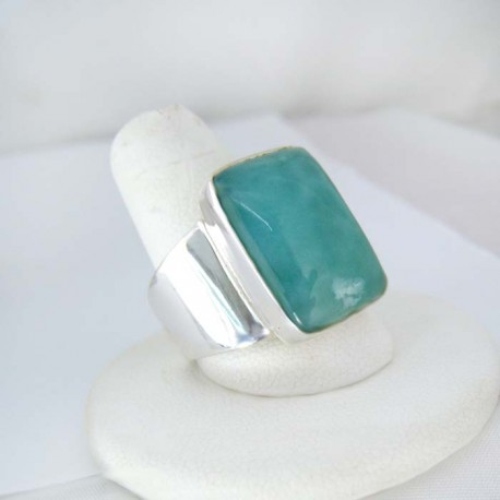 Larimar-Stone Yamir Luxury Ring Square Unisex 9120 89,00 €
