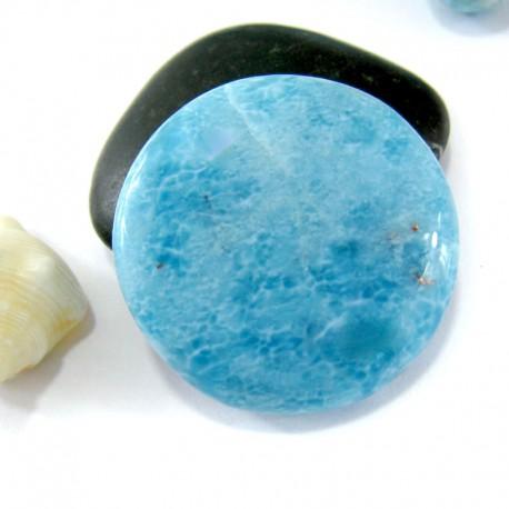 Ларимар круглый кабошон RC34 11084 Larimar-Stone