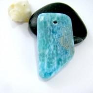 Larimar-Stone Larimar Stone Polished with drilled hole SB214 11136 39,90 €