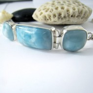 Yamir Luxury Bracelet 3 Quadrangle YA7 11217 Larimar-Stone 149,00 €