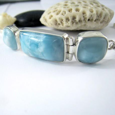 Yamir Luxury Bracelet 3 Quadrangle YA7 11217 Larimar-Stone 149,00 €