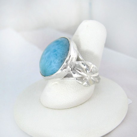 Larimar-Stone Yamir Luxury Ring Rund 9122 89,00 €