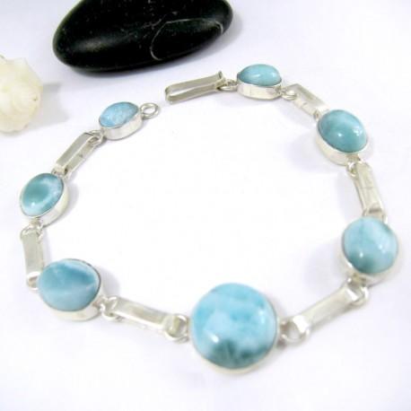 Larimar-Stone Silber Armband mit 7 Larimar Steinen LC36 11219 79,00 €