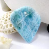 Ларимар камень пробурена SB217 11139 Larimar-Stone