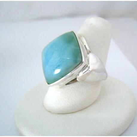 Larimar-Stone Yamir Larimar Luxury Ring Viereck 9124 89,00 €