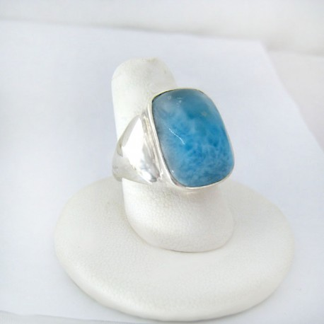 Larimar-Stone Yamir Larimar Luxury Ring Freeform 9125 89,00 €