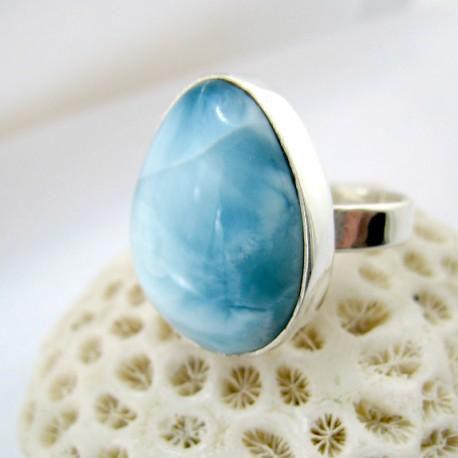Larimar-Stone Larimar Ring Tropfen YF16 11243 89,90 €