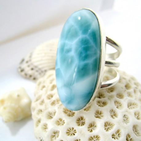 Larimar-Stone XL Yamir Luxury Ring Oval Tripple YR5 11244 189,00 €