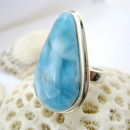Larimar-Stone Larimar Ring Tropfen YF17 11245 69,90 €