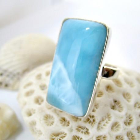 Larimar-Stone Ring Larimar Viereck ECE LV14 11246 89,00 €