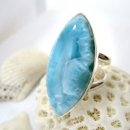 Larimar-Stone XL Larimar Yamir Luxury Ring Navette YR9 11250 169,00 €