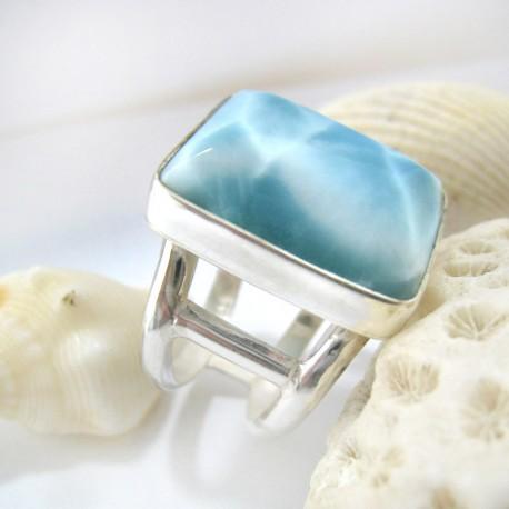 Larimar-Stone Yamir Larimar Luxury Ring Viereck YV5 11251 109,00 €