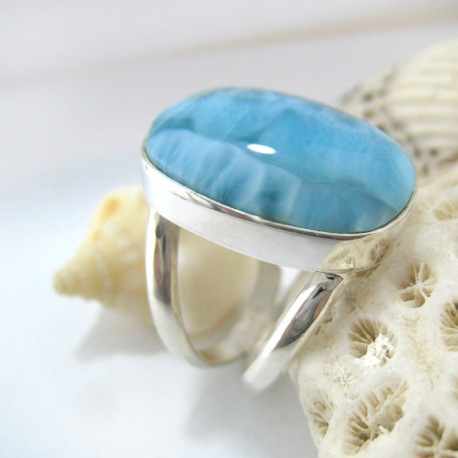 Larimar-Stone Larimar Yamir Luxury Ring Oval YR9 11252 109,00 €