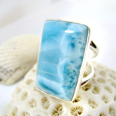 Larimar-Stone Yamir Larimar Luxury Ring Viereck YV6 11253 129,00 €