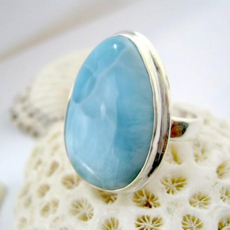 Larimar-Stone Larimar Ring Tropfen YF18 11254 89,90 €