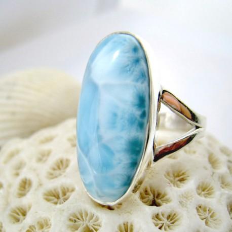 Larimar-Stone Larimar Ring Oval YO18 11255 59,00 €