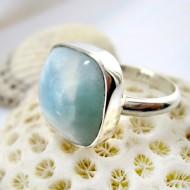 Ларимар Ювелирное кольцо четырехугольник LV15 11257 Larimar-Stone
