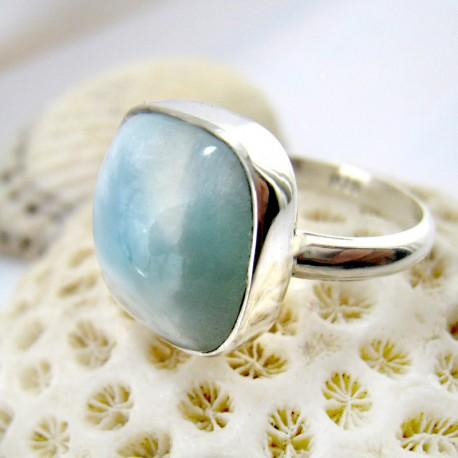 Larimar-Stone Ring Larimar Viereck LV15 11257 49,90 €