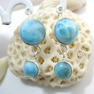 Larimar-Stone Larimar Earrings Round OR1a 11264 49,00 €