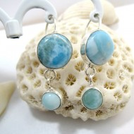 Larimar-Stone Larimar Earrings Round OR2a 11265 49,00 €