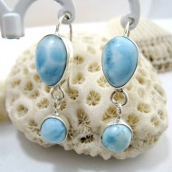 Larimar-Stone Larimar Earrings Drop Round YO25 11266 49,00 €