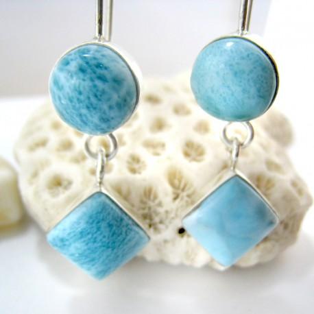 Larimar-Stone Larimar Earrings Round Square VR1 11267 59,00 €