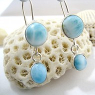 Larimar-Stone Larimar Earrings Round Oval YO26 11268 49,00 €