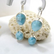 Larimar-Stone Larimar Earrings Drop Oval YO27 11270 49,00 €