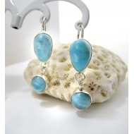 Larimar-Stone Larimar Earrings Drop Round YO29 11271 49,00 €