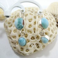 Larimar-Stone Larimar Earrings 2x Oval YO28 11272 49,00 €