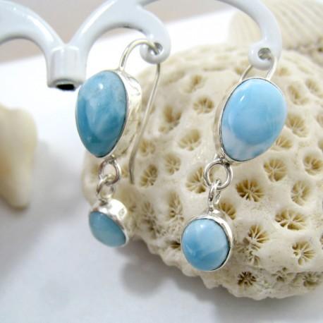 Larimar-Stone Larimar Earrings Drop Oval YO30 11273 49,00 €
