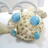 Larimar-Stone Larimar Earrings Round Oval YO31 11274 49,00 €