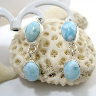 Larimar-Stone Larimar Earrings Drop Oval YO32 11276 49,00 €